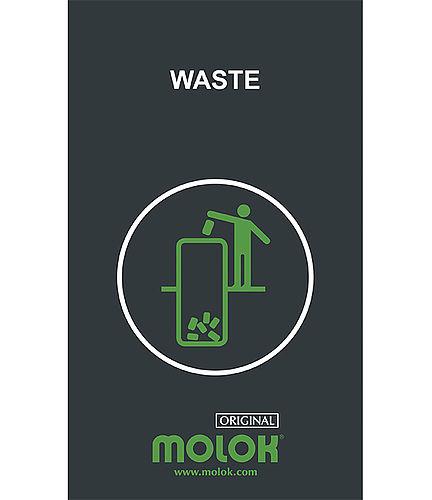 Znak z rodzajem odpadów