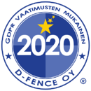 logo GDPR D-Fence 2020-Suomi
