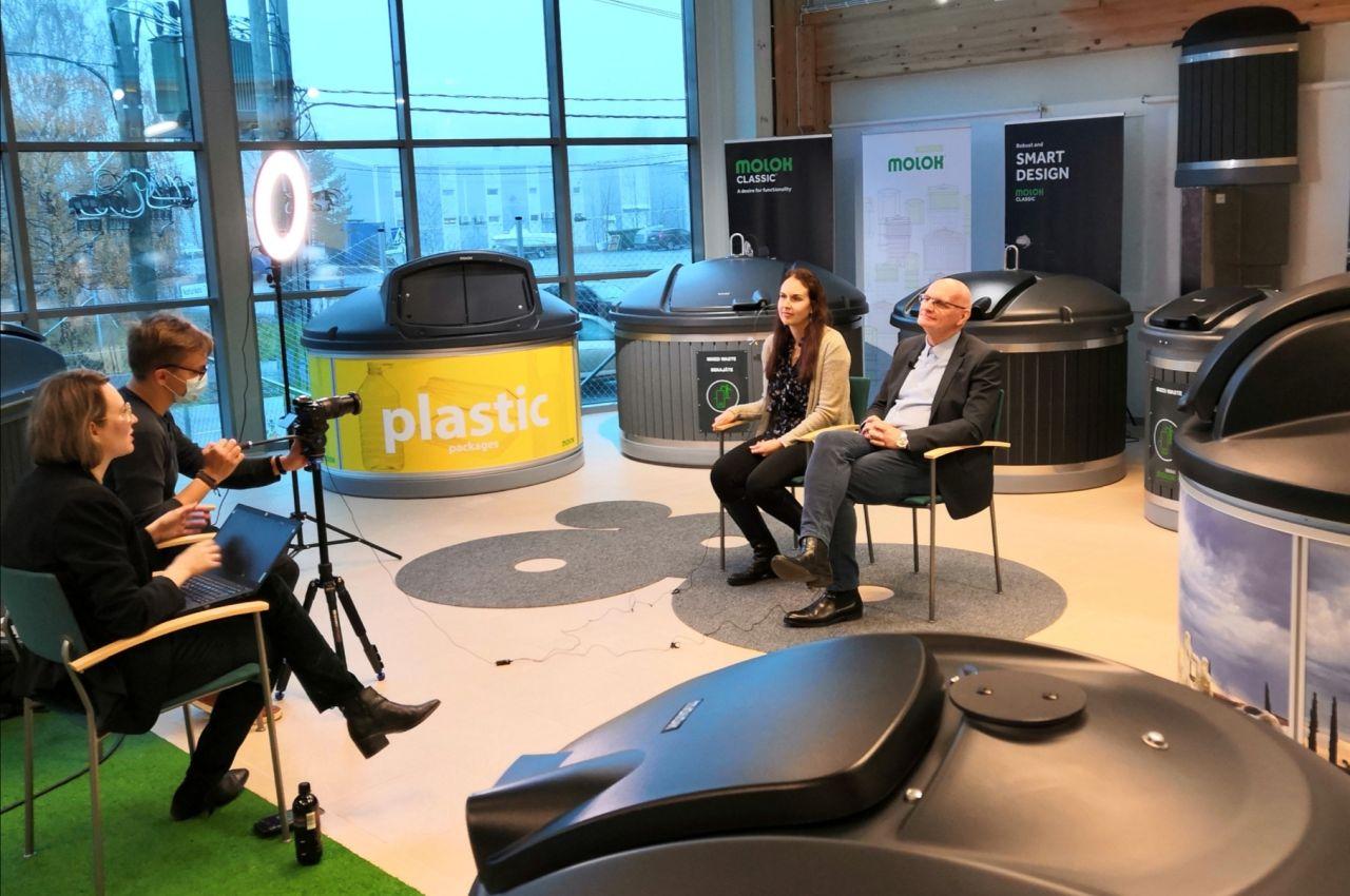 Molok participa en el proyecto de cooperación de gestión de residuos del gobierno de Finlandia con Rusia