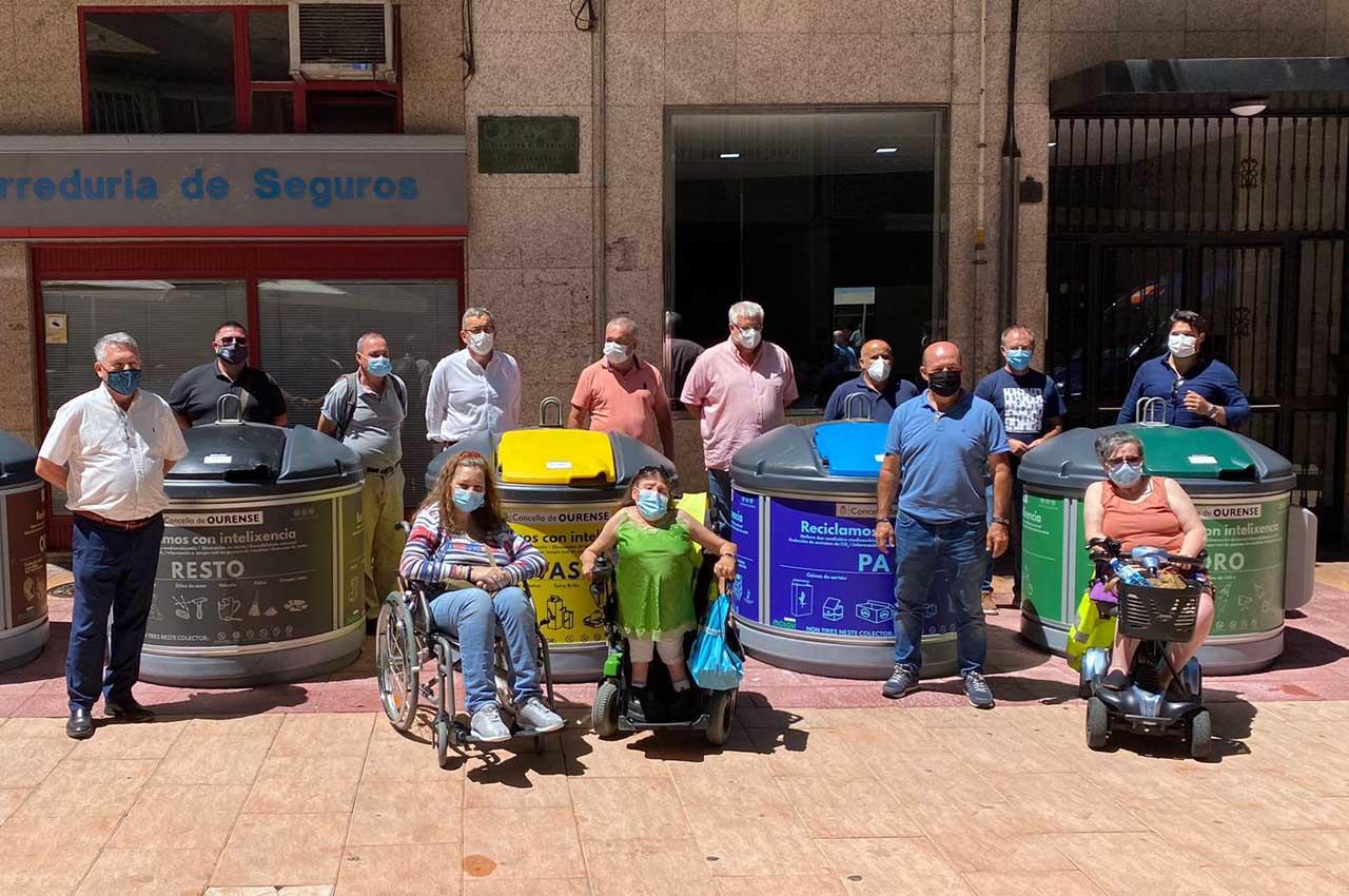 Delegación Canaria visita Galicia para conocer de cerca los contenedores semisoterrados MOLOK