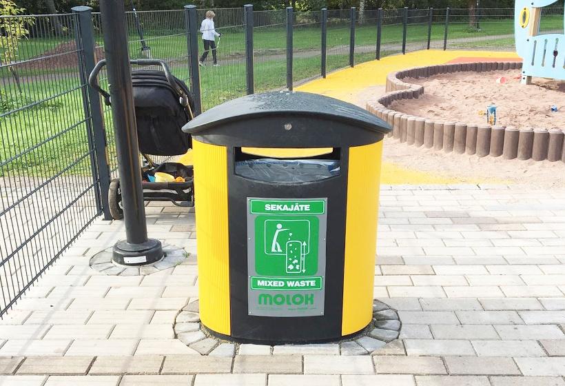CityScape painted aluminium yellow playground rauma