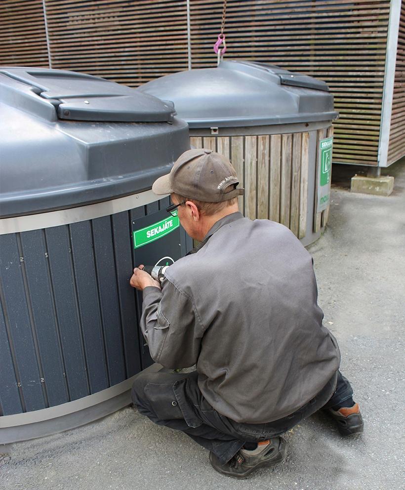 Molok-jätesäiliöihin on kattavat huolto- ja varaosapalvelut