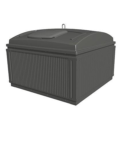 MolokDomino jätesäiliön verhous Alumiini, RAL7024 (vakio)