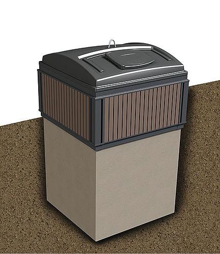 MolokDomino 5m³ (betonirunko) jätesäiliö syväkeräys