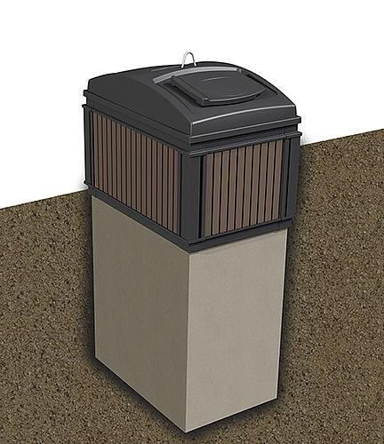MolokDomino 3m³ (betonirunko) jätesäiliö syväkeräys
