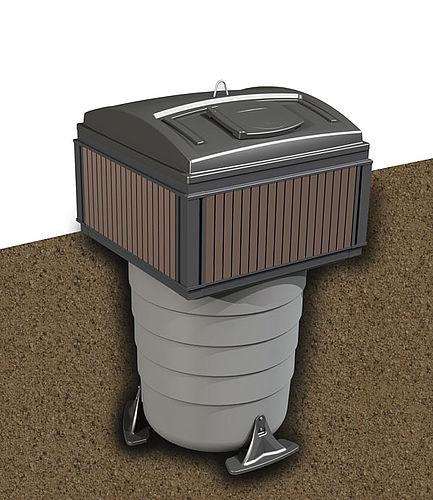 MolokDomino Global 5m³ jätesäiliö syväkeräys