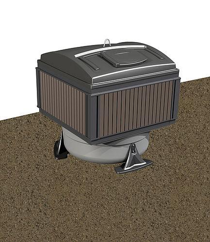MolokDomino Plus 3m³ jätesäiliö syväkeräys