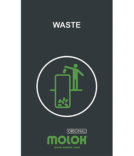 Waste type sign