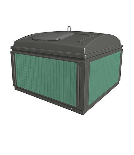 MolokDomino jätesäiliön verhous Kierrätysmuovilauta, vihreä